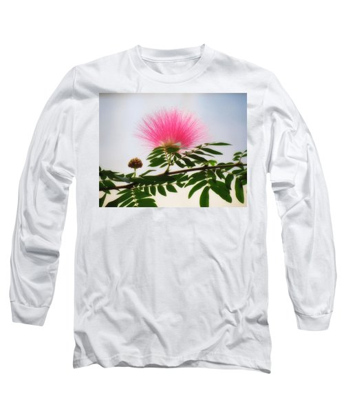 Puff Of Pink - Mimosa Flower Long Sleeve T-Shirt by MTBobbins Photography