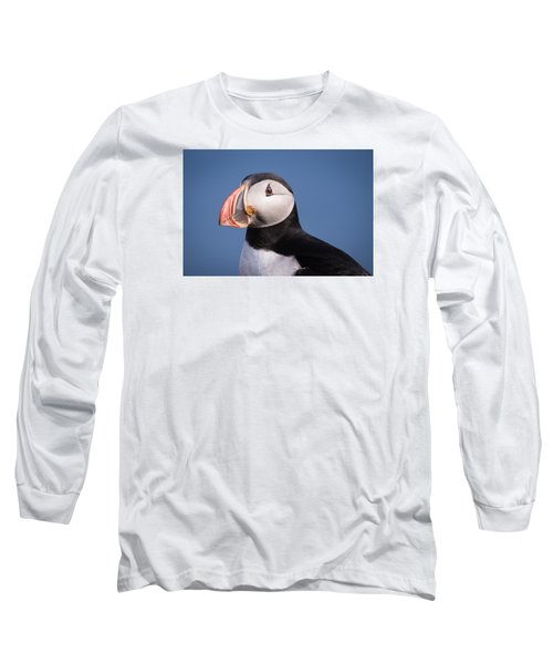 Puffin 1 Long Sleeve T-Shirt by Brad Grove