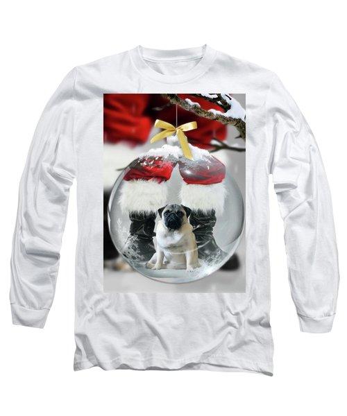 Pug And Santa Long Sleeve T-Shirt
