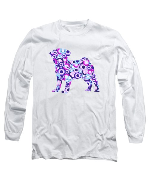Pug - Animal Art Long Sleeve T-Shirt by Anastasiya Malakhova