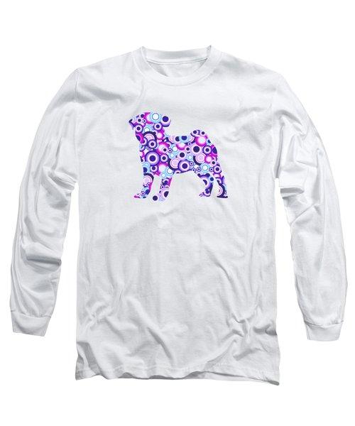 Pug - Animal Art Long Sleeve T-Shirt