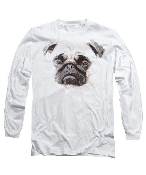Pug Dog -  Parallel Hatching Long Sleeve T-Shirt