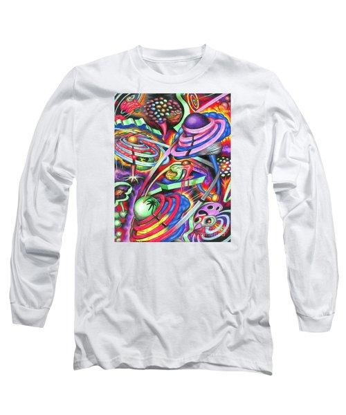 Pulsating Ripples Of Cosmic Gray Matter Long Sleeve T-Shirt