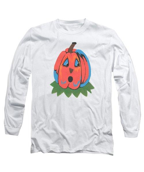 Pumpkin Long Sleeve T-Shirt by Kathleen Sartoris