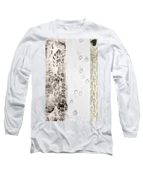 Puppy Prints In The Snow Long Sleeve T-Shirt