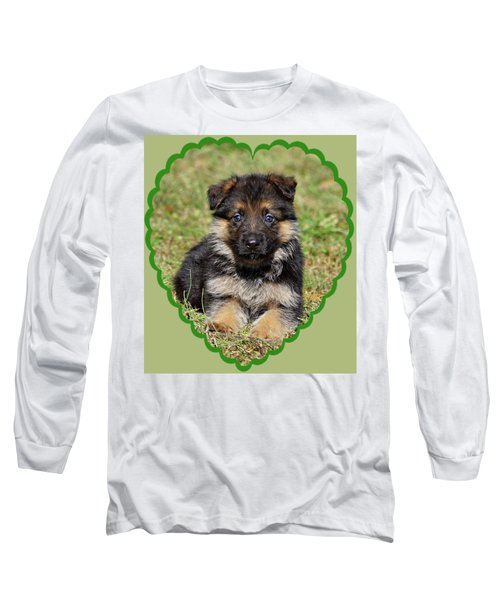 Long Sleeve T-Shirt featuring the photograph Puppy In Heart by Sandy Keeton