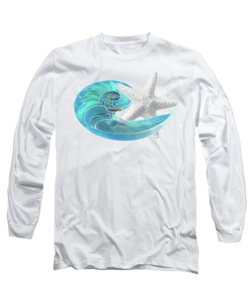 Pure Joy - Starfish With Nautilus Shell Long Sleeve T-Shirt