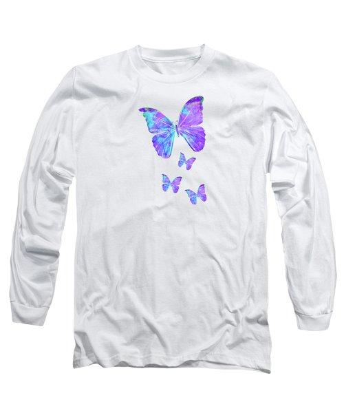 Purple Butterflies By Jan Marvin Long Sleeve T-Shirt