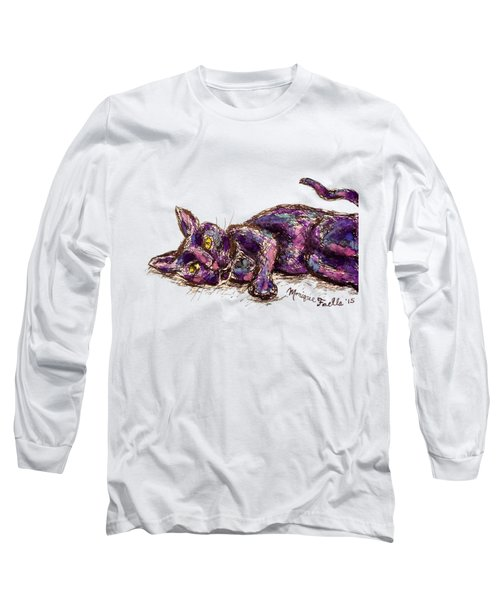 Purple Cat Long Sleeve T-Shirt