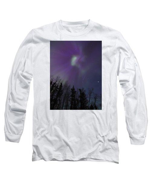 Purple Corona Long Sleeve T-Shirt