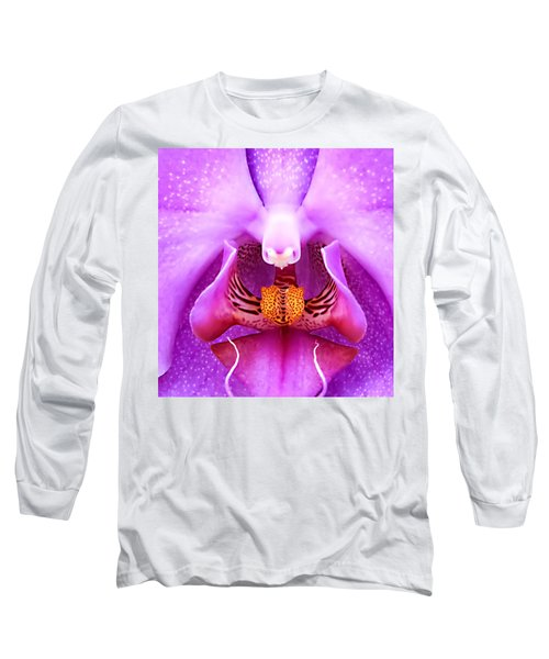 Purple Face In The Orchid. Long Sleeve T-Shirt