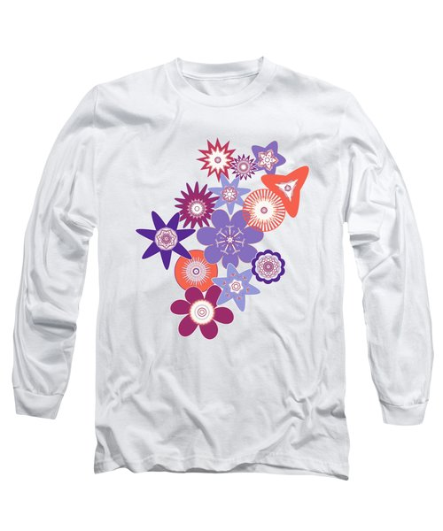 Purple Flower Fantasy Long Sleeve T-Shirt by Methune Hively