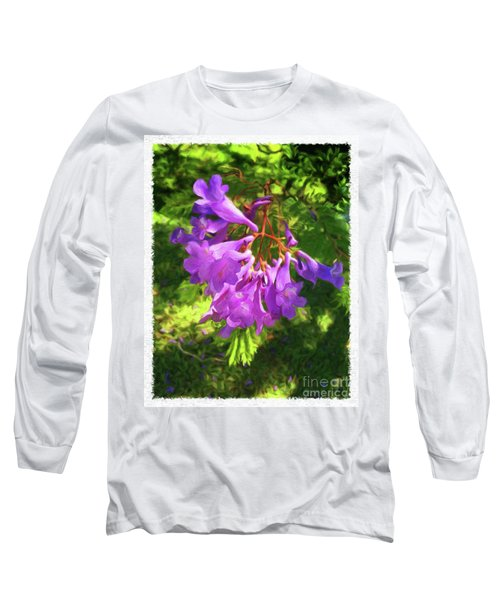 Purple Flowers Long Sleeve T-Shirt