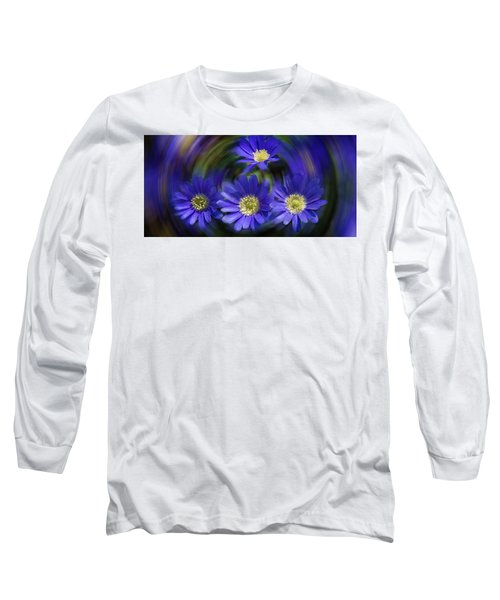 Purple In Nature Long Sleeve T-Shirt by Milena Ilieva