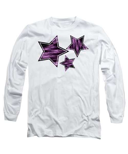 Purple Lightening Long Sleeve T-Shirt