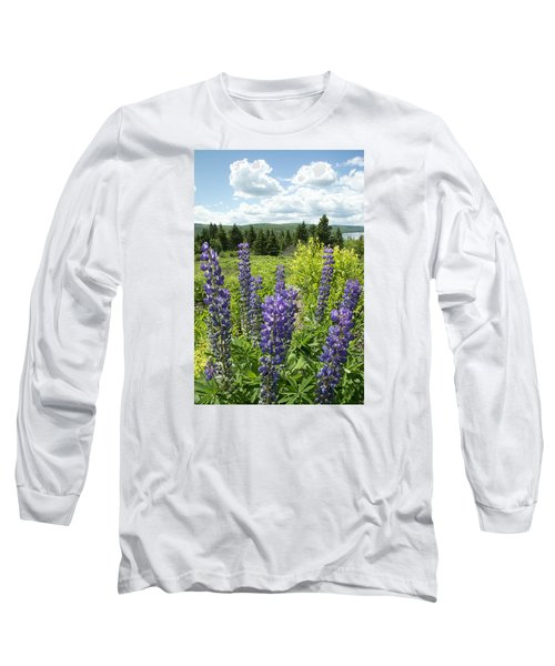 Long Sleeve T-Shirt featuring the photograph Purple Lupines by Paul Miller