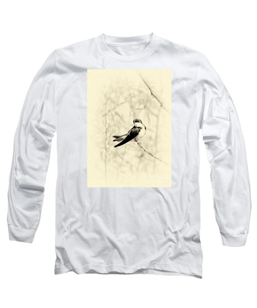 Long Sleeve T-Shirt featuring the photograph Purple Martin by Lila Fisher-Wenzel