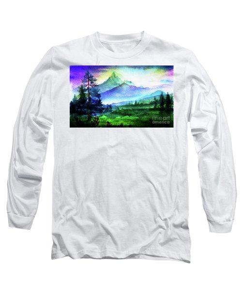Purple Mountains Majesty Long Sleeve T-Shirt