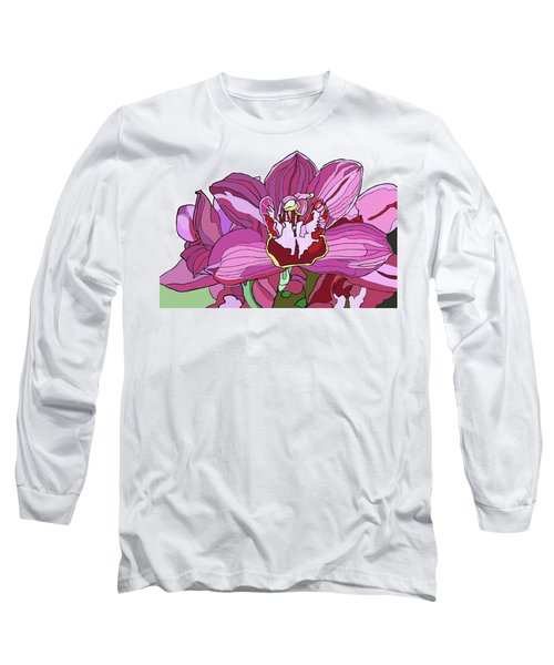 Purple Orchid Long Sleeve T-Shirt by Jamie Downs