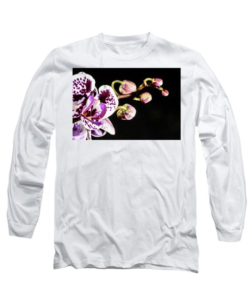 Purple Orchid Reaching Out Long Sleeve T-Shirt