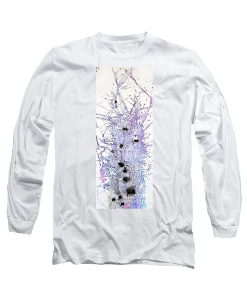 Long Sleeve T-Shirt featuring the painting Purple Passion by Rebecca Davis