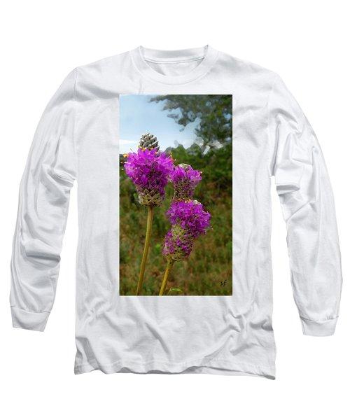 Purple Prairie Clover Long Sleeve T-Shirt