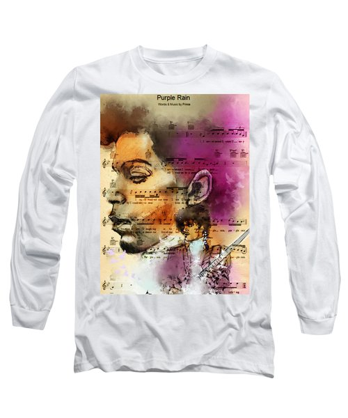Purple Rain Forever Long Sleeve T-Shirt by Howard Barry