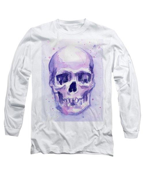 Purple Skull Long Sleeve T-Shirt