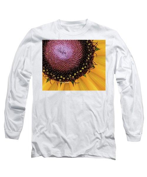 Long Sleeve T-Shirt featuring the photograph Purple Spirals by David Coblitz