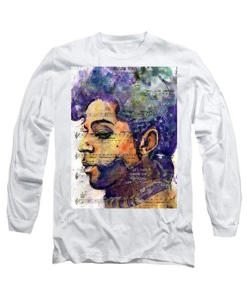 Purple Tears Long Sleeve T-Shirt by Howard Barry