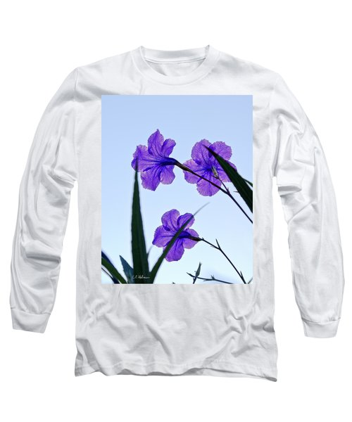 Purple Trio Long Sleeve T-Shirt