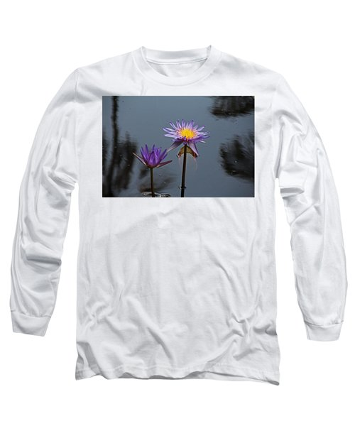 Purple Two-step Long Sleeve T-Shirt