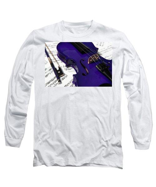 Purple Violin And Music V Long Sleeve T-Shirt