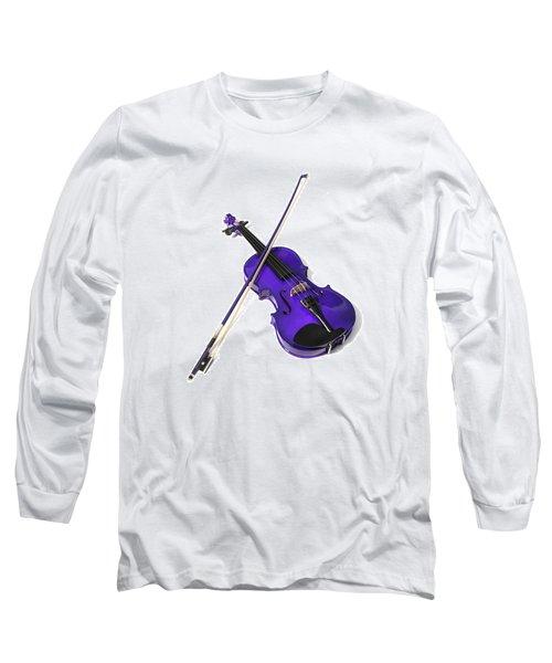 Purple Violin Long Sleeve T-Shirt
