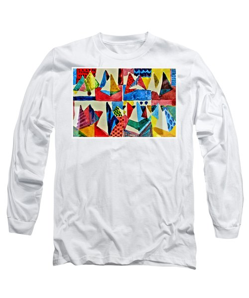 Long Sleeve T-Shirt featuring the digital art Pyramid Play by Mindy Newman