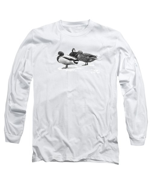 Long Sleeve T-Shirt featuring the photograph Quackers by Michael Swanson
