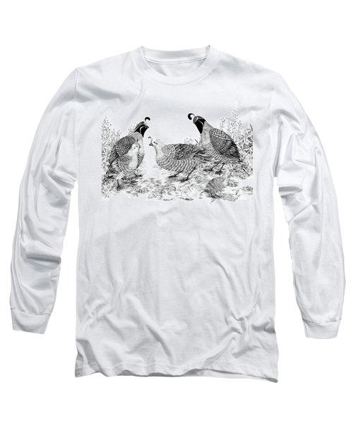 Quail Family Reunion Long Sleeve T-Shirt