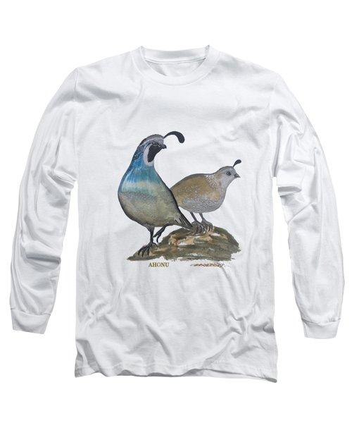 Quail Parents Wondering Long Sleeve T-Shirt