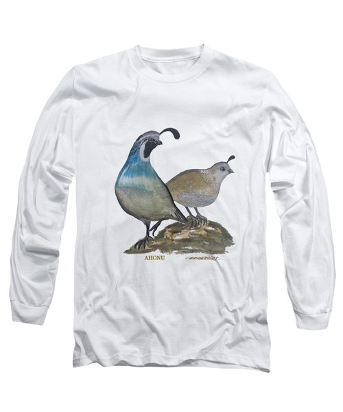 Quail Parents Wondering Long Sleeve T-Shirt