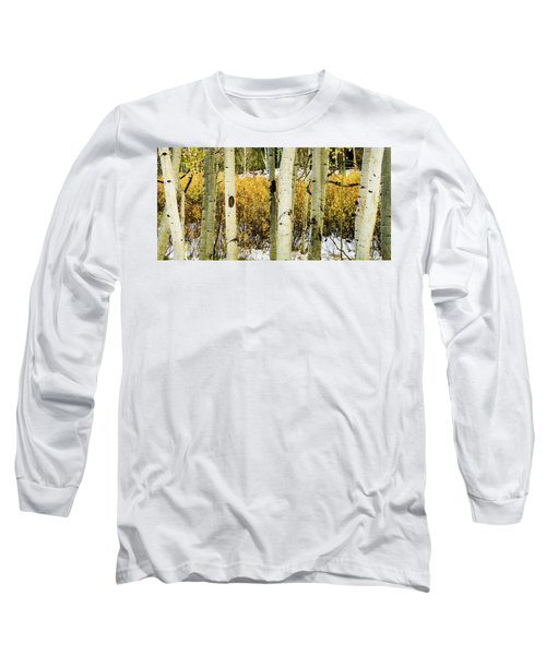 Quakies And Willows In Autumn Long Sleeve T-Shirt
