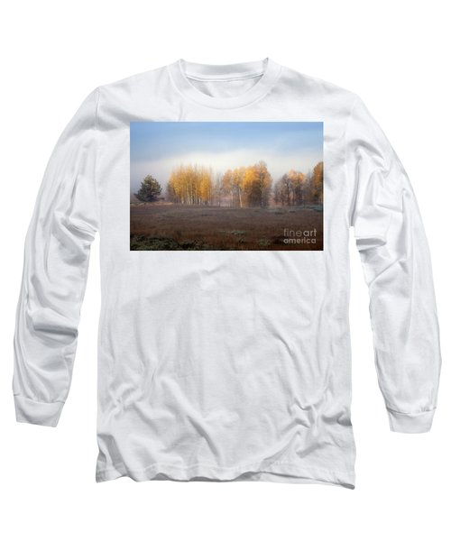 Quaking Aspen Trees At Dawn, Grand Teton National Park, Wyoming Long Sleeve T-Shirt