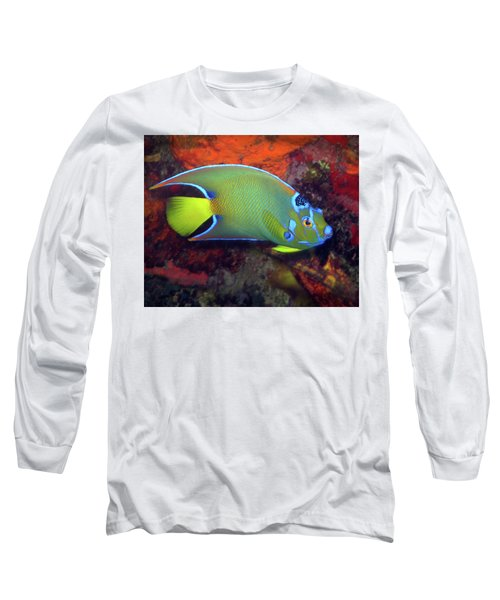 Queen Angelfish, U. S. Virgin Islands 2 Long Sleeve T-Shirt