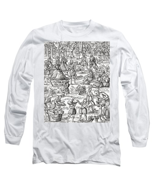 Queen Elizabeth I At A Royal Picnic Long Sleeve T-Shirt