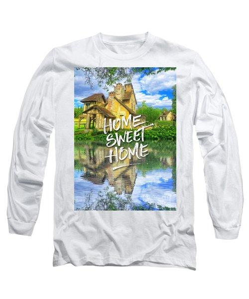 Queen Marie-antoinette Hamlet Cottage Versailles Paris France Long Sleeve T-Shirt