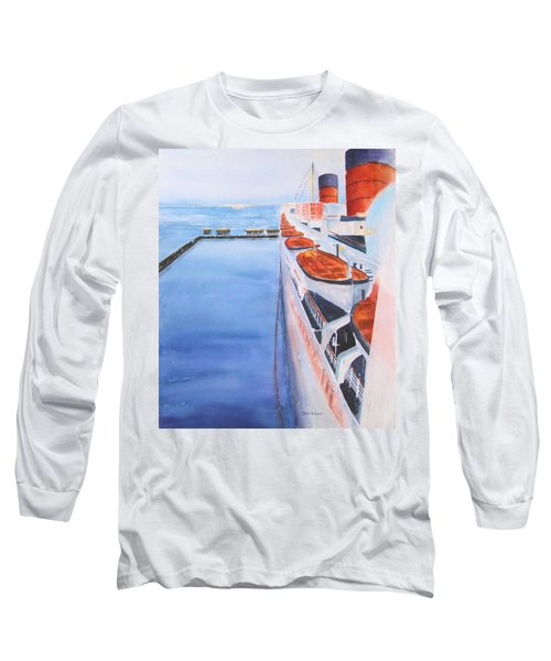 Queen Mary From The Bridge Long Sleeve T-Shirt by Debbie Lewis