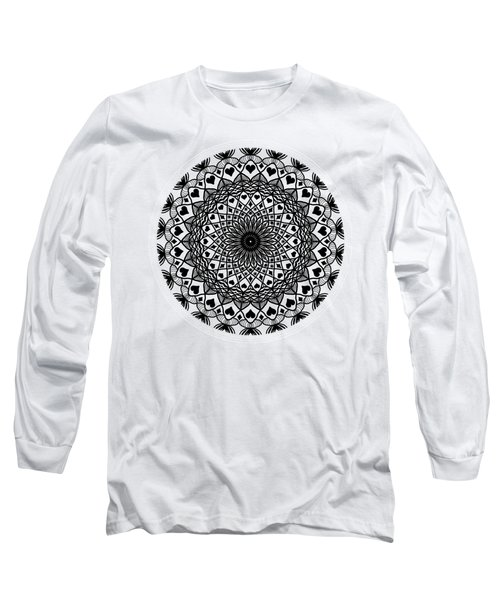 Queen Of Hearts King Of Diamonds Mandala Long Sleeve T-Shirt