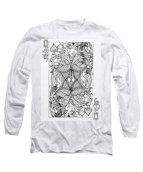 Queen Of Spades  Long Sleeve T-Shirt by Jani Freimann