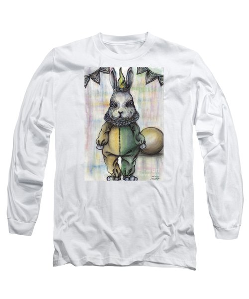 Rabbit Pierrot Long Sleeve T-Shirt by Akiko Okabe