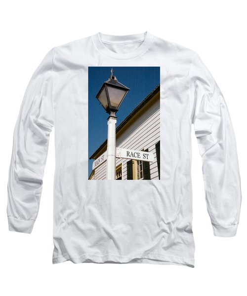 Long Sleeve T-Shirt featuring the photograph Race St Old Salem by Bob Pardue