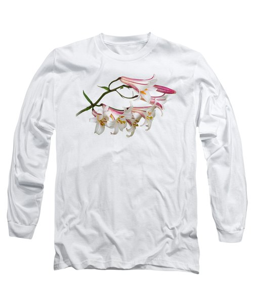 Radiant Lilies Long Sleeve T-Shirt by Gill Billington